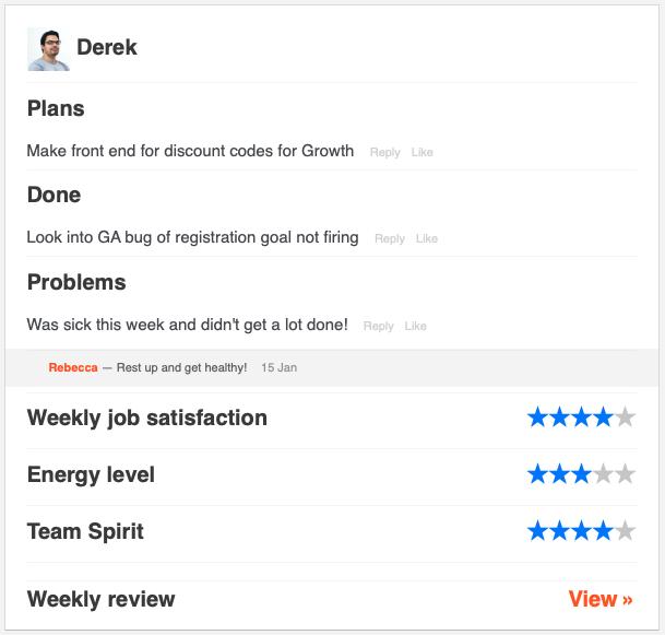 Derek Weekly Summary