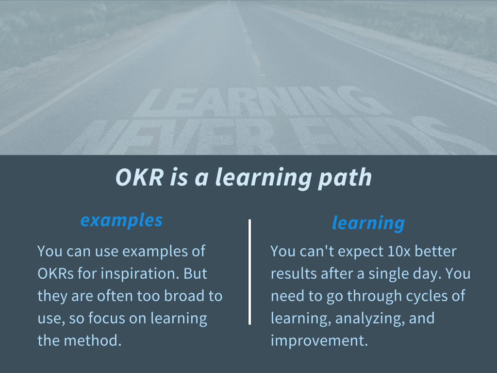 OKR is a learning path