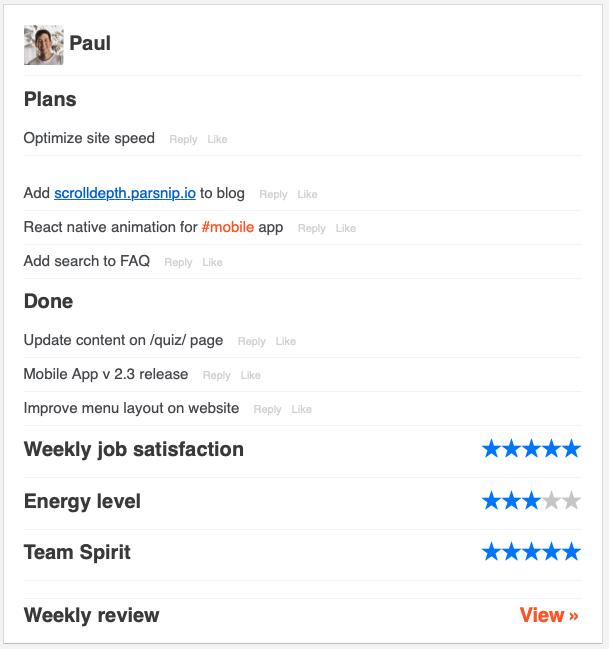 Paul Weekly Summary