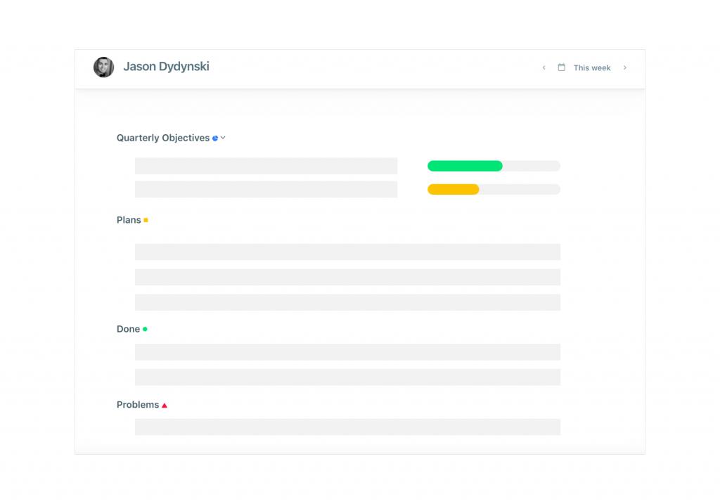 weekdone's planning tool