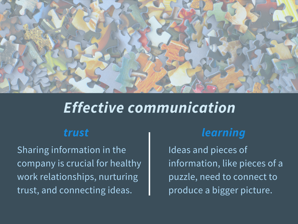 Effective communication. Benefits of trust and learning