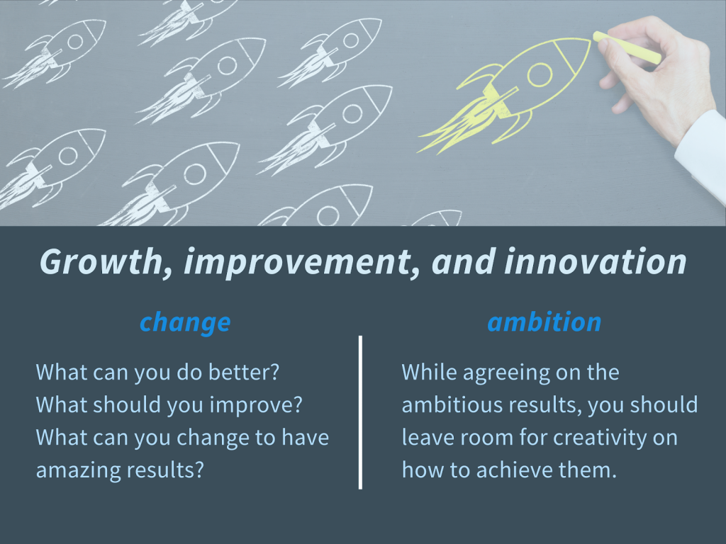 Growth, improvement and innovation: Benefits of change and ambition
