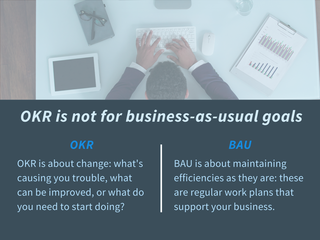 OKRs aren't for business as usual