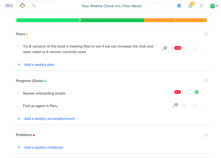 weekly report example